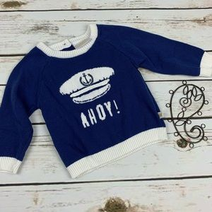 Rosie Pope 12 Months Sweater Blue Ahoy Pullover